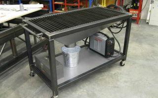 Конструкции столов для работы с плазменной резкой