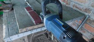 Как сделать ленточный электронапильник из болгарки
