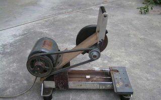 Самодельный отрезной станок с электродвигателем