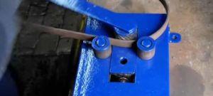 Гибка металлической полосы в кольцо и на ребро
