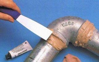 3 инструкции по холодной сварке водопроводных труб