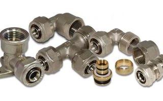 4 основных вида фитингов для металлопластиковых труб