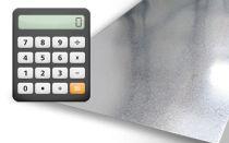 Калькулятор веса листового металла