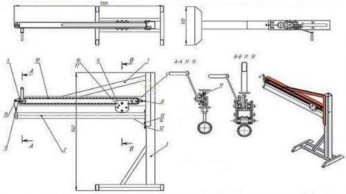 схема фальцеосадочного станка