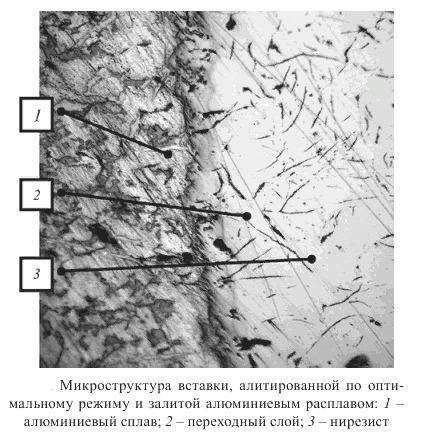 Алитированная сталь под микроскопом