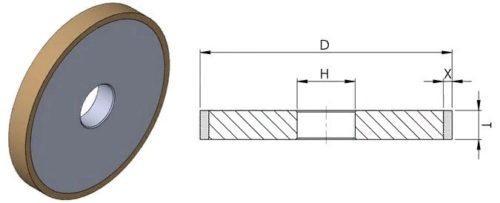 Размеры алмазного шлифовального круга