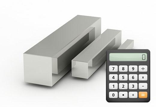 калькулятор веса квадрата