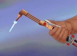 Поджечь газорежущую смесь