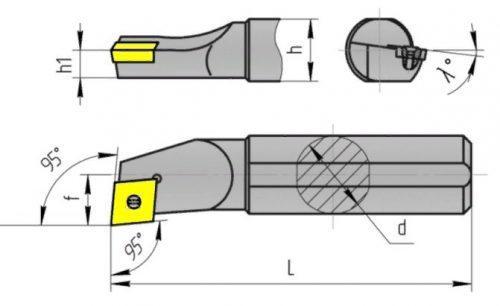 Геометрические параметры расточного резца