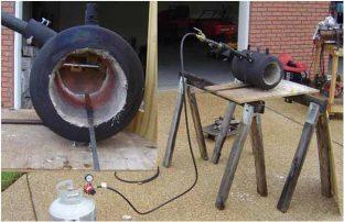 Пример устройства газового горна