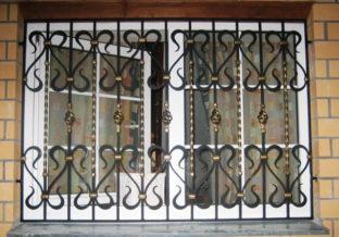Пример кованой решетки