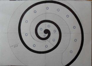 Пример разбиения контура спирали