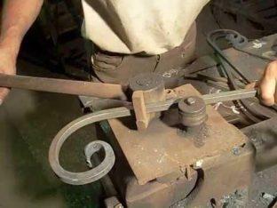 Гибка металла при помощи гнутика