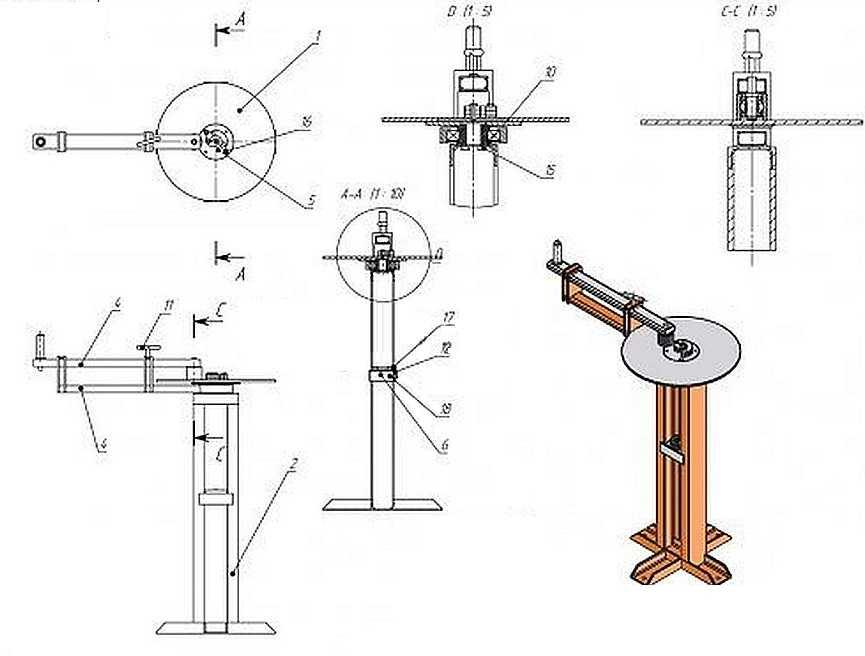Схема устройства улитка