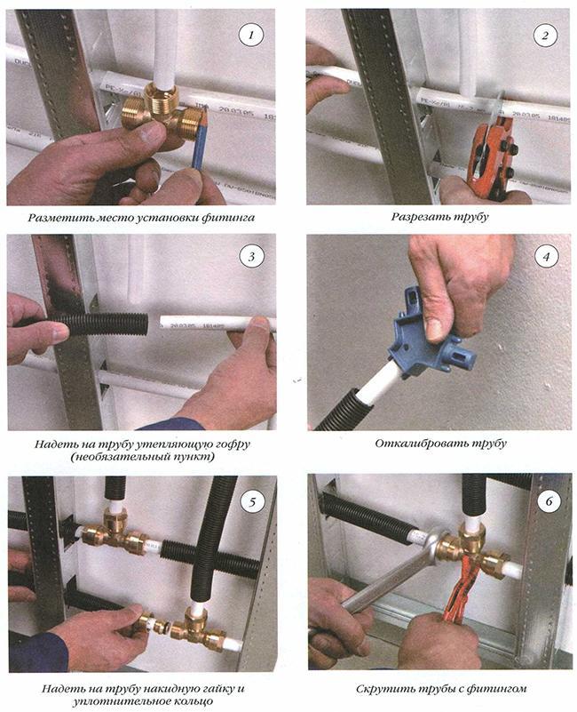 Инструкция по установке фитинга