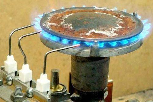 Ионизационный электрод контроля пламени