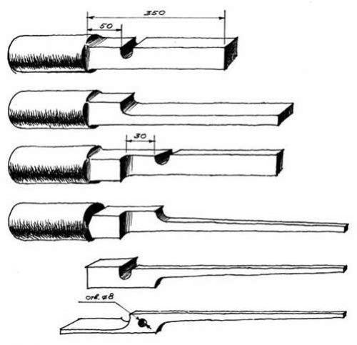 Поэтапный процесс изготовления клещевины с арматуры
