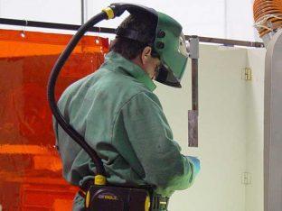 Сварочная маска с подачей воздуха в процессе работы