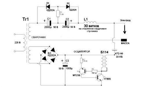 Подробная схема осциллятора №2