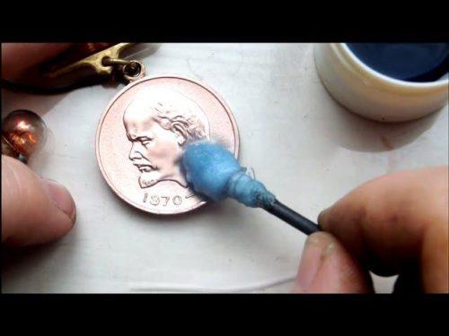 Обработка медной медали