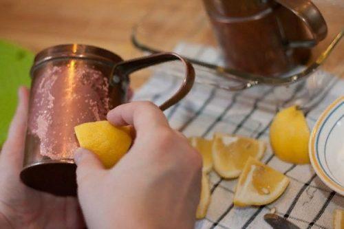 Полировка латуни лимонным соком