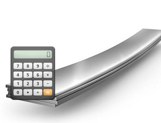 Калькулятор веса полосы