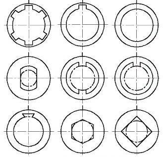 Профили, которые можно получить с помощью протяжек шлицевого типа