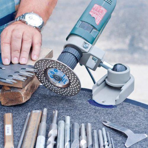 Процесс работы с использованием алмазного круга
