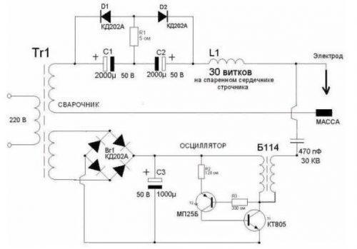Схематичное устройство осциллятора