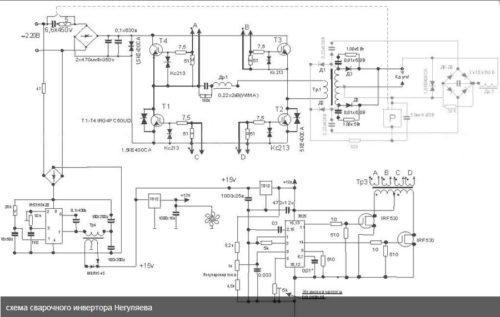 Схема простого сварочного инвертора