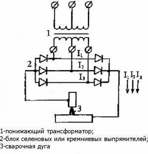 Электрическая схема сварочного выпрямителя