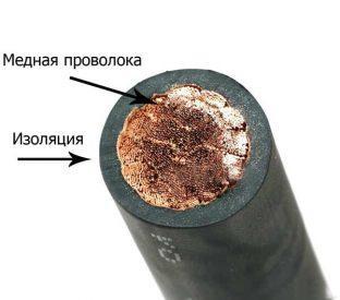 Конструктивные особенности кабеля