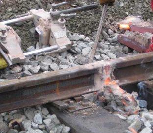 Сварка железнодорожных путей термитной сваркой