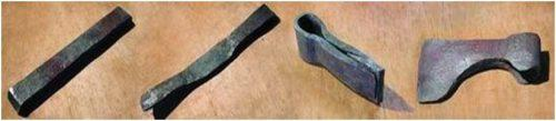 Заготовка для топора в виде полосы металла